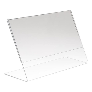 BD 03 Clear Acrylic slant back sign holder